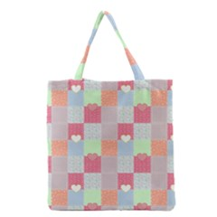 Patchwork Grocery Tote Bag