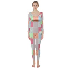 Patchwork Long Sleeve Catsuit