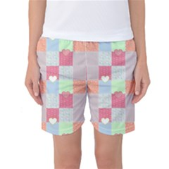 Patchwork Women s Basketball Shorts