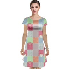 Patchwork Cap Sleeve Nightdress