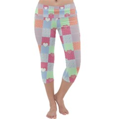 Patchwork Capri Yoga Leggings