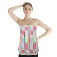 Patchwork Strapless Top