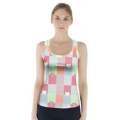 Patchwork Racer Back Sports Top