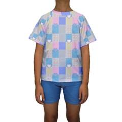 Patchwork Kids  Short Sleeve Swimwear