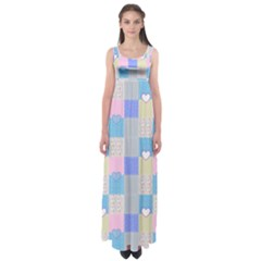 Patchwork Empire Waist Maxi Dress