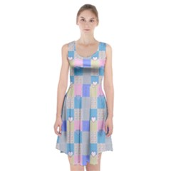 Patchwork Racerback Midi Dress