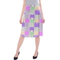 Patchwork Midi Beach Skirt
