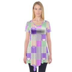 Patchwork Short Sleeve Tunic
