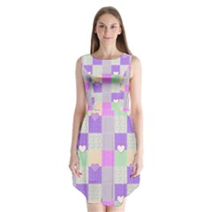 Patchwork Sleeveless Chiffon Dress