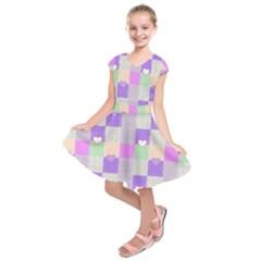 Patchwork Kids  Short Sleeve Dress