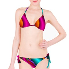 Fractal Wallpaper Color Pipes Bikini Set