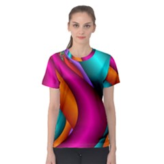 Fractal Wallpaper Color Pipes Women s Sport Mesh Tee