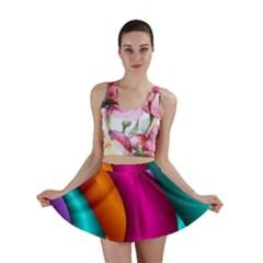 Fractal Wallpaper Color Pipes Mini Skirt