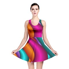 Fractal Wallpaper Color Pipes Reversible Skater Dress