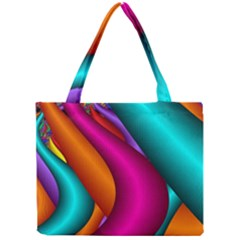 Fractal Wallpaper Color Pipes Mini Tote Bag