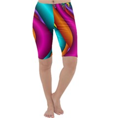 Fractal Wallpaper Color Pipes Cropped Leggings