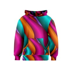 Fractal Wallpaper Color Pipes Kids  Pullover Hoodie