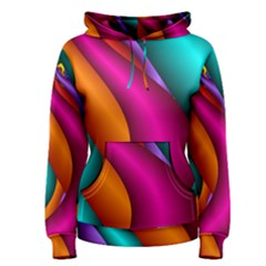 Fractal Wallpaper Color Pipes Women s Pullover Hoodie