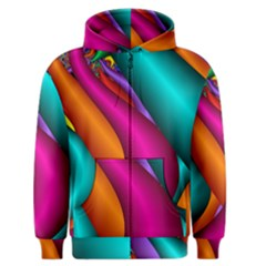 Fractal Wallpaper Color Pipes Men s Zipper Hoodie