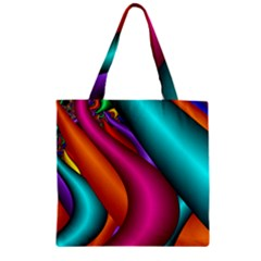 Fractal Wallpaper Color Pipes Zipper Grocery Tote Bag