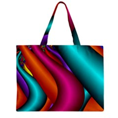 Fractal Wallpaper Color Pipes Zipper Mini Tote Bag