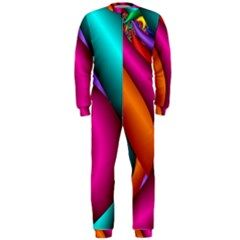 Fractal Wallpaper Color Pipes Onepiece Jumpsuit (men)
