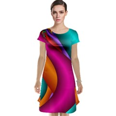 Fractal Wallpaper Color Pipes Cap Sleeve Nightdress