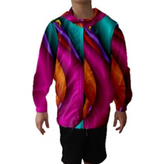 Fractal Wallpaper Color Pipes Hooded Wind Breaker (kids)