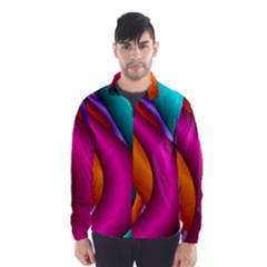 Fractal Wallpaper Color Pipes Wind Breaker (men)