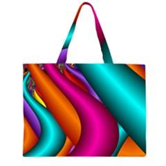 Fractal Wallpaper Color Pipes Large Tote Bag