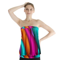 Fractal Wallpaper Color Pipes Strapless Top