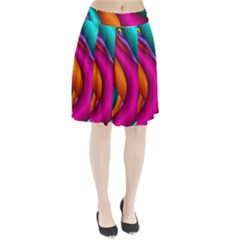 Fractal Wallpaper Color Pipes Pleated Skirt