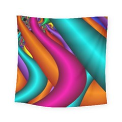 Fractal Wallpaper Color Pipes Square Tapestry (small)