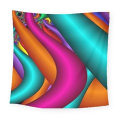 Fractal Wallpaper Color Pipes Square Tapestry (large)