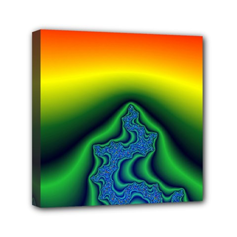 Fractal Wallpaper Water And Fire Mini Canvas 6  x 6