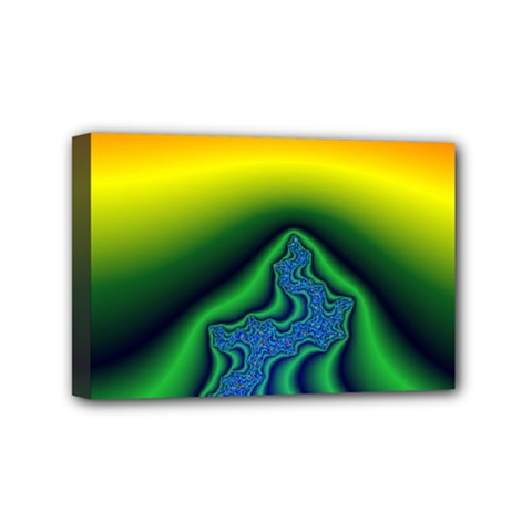 Fractal Wallpaper Water And Fire Mini Canvas 6  x 4