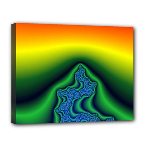 Fractal Wallpaper Water And Fire Canvas 14  X 11