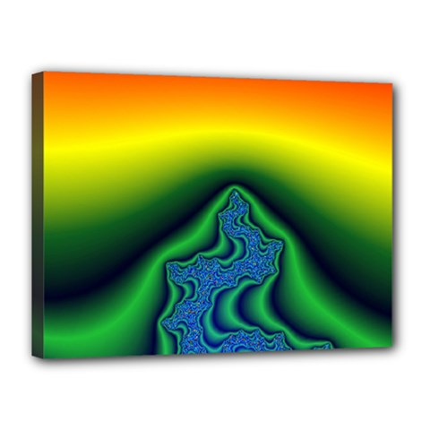 Fractal Wallpaper Water And Fire Canvas 16  X 12