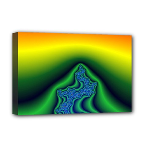 Fractal Wallpaper Water And Fire Deluxe Canvas 18  x 12