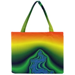 Fractal Wallpaper Water And Fire Mini Tote Bag