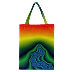 Fractal Wallpaper Water And Fire Classic Tote Bag