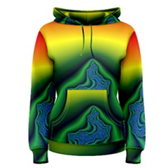 Fractal Wallpaper Water And Fire Women s Pullover Hoodie