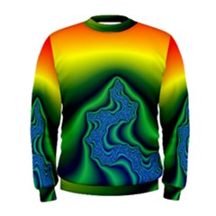 Fractal Wallpaper Water And Fire Men s Sweatshirt