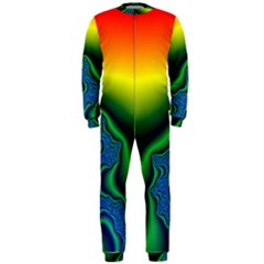 Fractal Wallpaper Water And Fire Onepiece Jumpsuit (men)