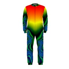 Fractal Wallpaper Water And Fire OnePiece Jumpsuit (Kids)