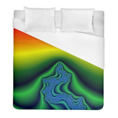 Fractal Wallpaper Water And Fire Duvet Cover (full/ Double Size)