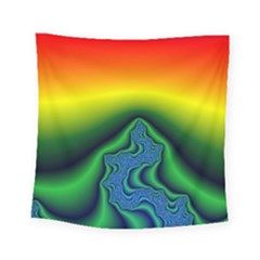 Fractal Wallpaper Water And Fire Square Tapestry (small)