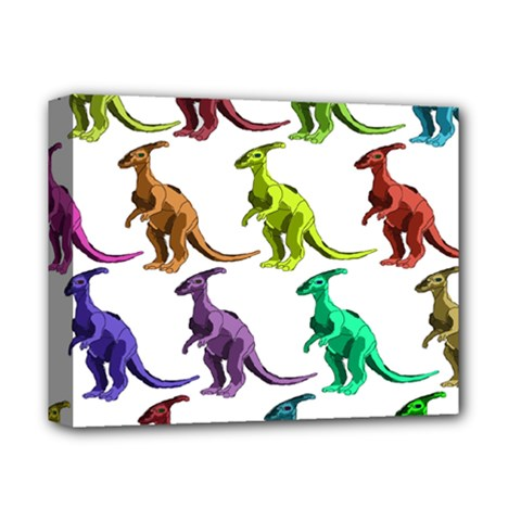 Multicolor Dinosaur Background Deluxe Canvas 14  X 11