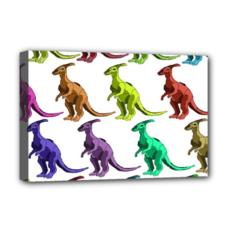 Multicolor Dinosaur Background Deluxe Canvas 18  X 12