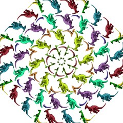Multicolor Dinosaur Background Hook Handle Umbrellas (medium)